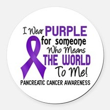Pancreatic Cancer MeansWorldToMe2 Round Car Magnet