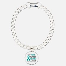 Ovarian Cancer MeansWorl Charm Bracelet, One Charm