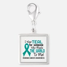 Ovarian Cancer MeansWorldToMe Silver Square Charm
