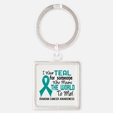 Ovarian Cancer MeansWorldToMe2 Square Keychain