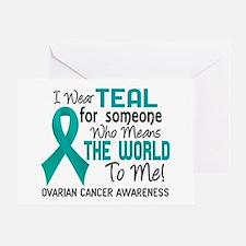 Ovarian Cancer MeansWorldToMe2 Greeting Card