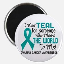 """Ovarian Cancer MeansWorldT 2.25"""" Magnet (100 pack)"""