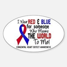 Congenital Heart Defect MeansWorldT Sticker (Oval)