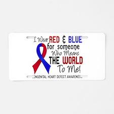 Congenital Heart Defect Mea Aluminum License Plate