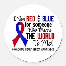 Congenital Heart Defect MeansWorl Round Car Magnet