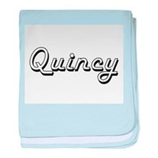 Quincy Classic Style Name baby blanket