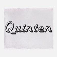 Quinten Classic Style Name Throw Blanket