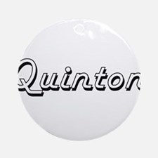 Quinton Classic Style Name Ornament (Round)