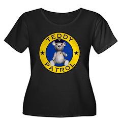 Teddy Patrol Womens Plus Size Scoop Neck Black Tee