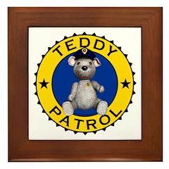 Teddy Patrol Framed Tile