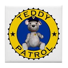 Teddy Patrol Tile Coaster
