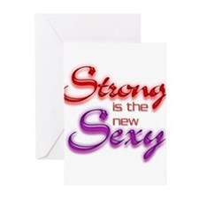 STRONG IS THE NEW SEXY Greeting Cards (Pk of 20)