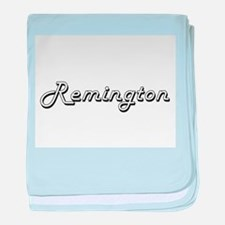 Remington Classic Style Name baby blanket