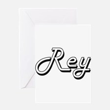 Rey Classic Style Name Greeting Cards
