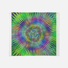 Hypnotic Star Burst Fractal Throw Blanket