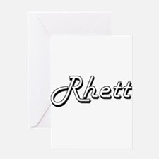 Rhett Classic Style Name Greeting Cards