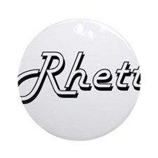 Rhett Classic Style Name Ornament (Round)
