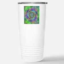 Hypnotic Star Burst Fractal Travel Mug