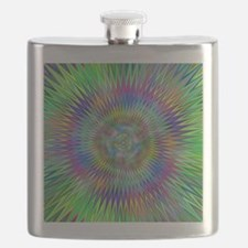 Hypnotic Star Burst Fractal Flask