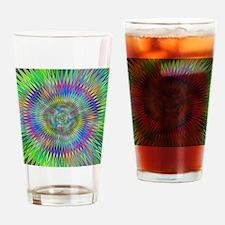 Hypnotic Star Burst Fractal Drinking Glass