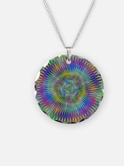 Hypnotic Star Burst Fractal Necklace