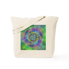 Hypnotic Star Burst Fractal Tote Bag