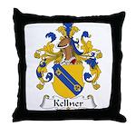 Kellner Family Crest Throw Pillow