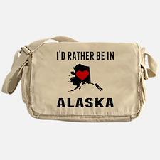 Id Rather Be In Alaska Messenger Bag