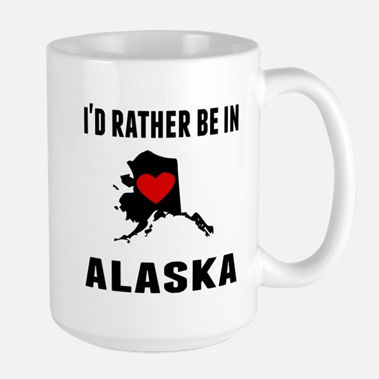 Id Rather Be In Alaska Mugs