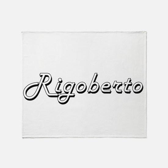 Rigoberto Classic Style Name Throw Blanket