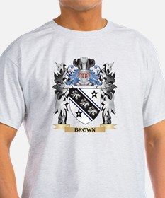 Brown Coat of Arms - Family Crest T-Shirt