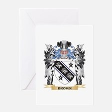 Brown Coat of Arms - Family Crest Greeting Cards