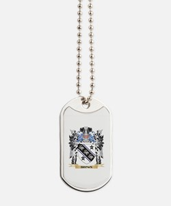Brown Coat of Arms - Family Crest Dog Tags