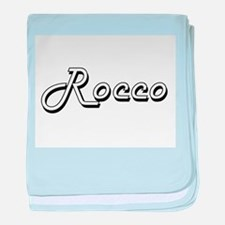 Rocco Classic Style Name baby blanket