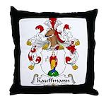 Kauffmann Family Crest Throw Pillow