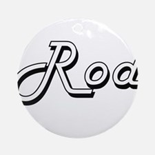 Rod Classic Style Name Ornament (Round)