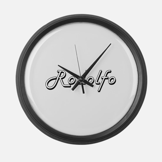 Rodolfo Classic Style Name Large Wall Clock