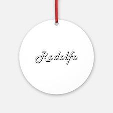 Rodolfo Classic Style Name Ornament (Round)