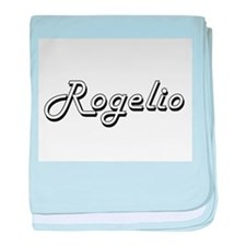 Rogelio Classic Style Name baby blanket