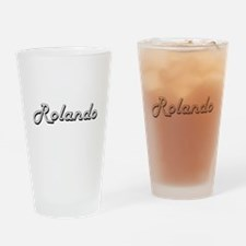 Rolando Classic Style Name Drinking Glass