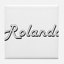 Rolando Classic Style Name Tile Coaster