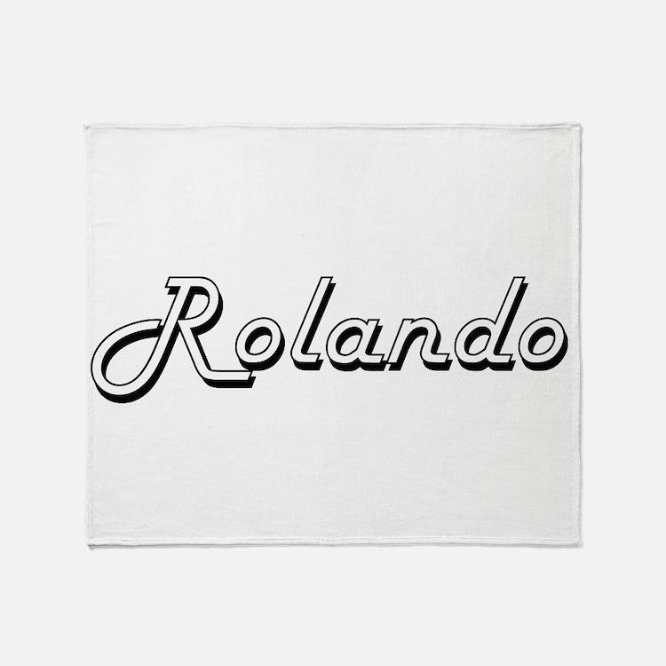 Rolando Classic Style Name Throw Blanket
