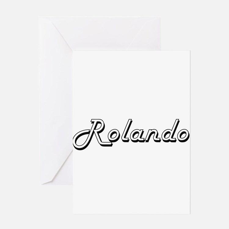 Rolando Classic Style Name Greeting Cards