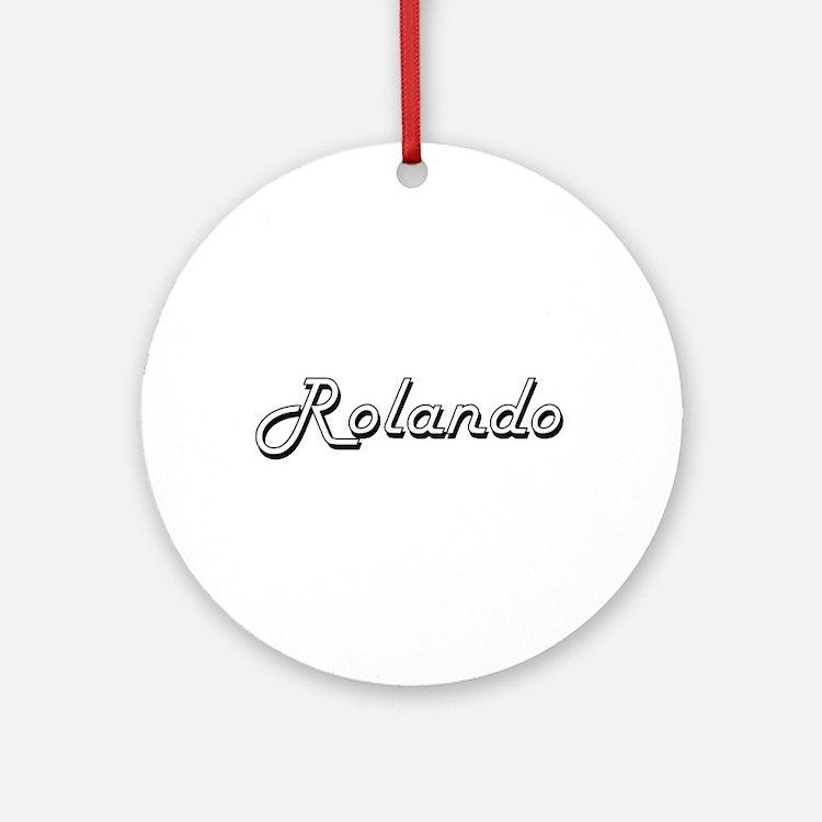 Rolando Classic Style Name Ornament (Round)