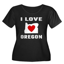 I Love Oregon Plus Size T-Shirt