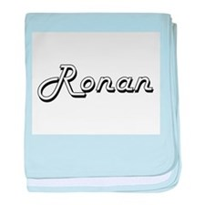 Ronan Classic Style Name baby blanket