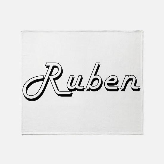 Ruben Classic Style Name Throw Blanket