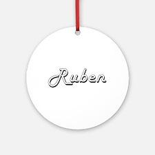 Ruben Classic Style Name Ornament (Round)