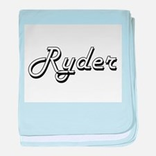 Ryder Classic Style Name baby blanket