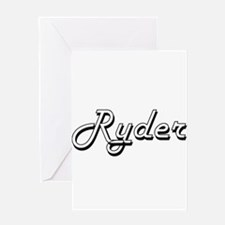 Ryder Classic Style Name Greeting Cards